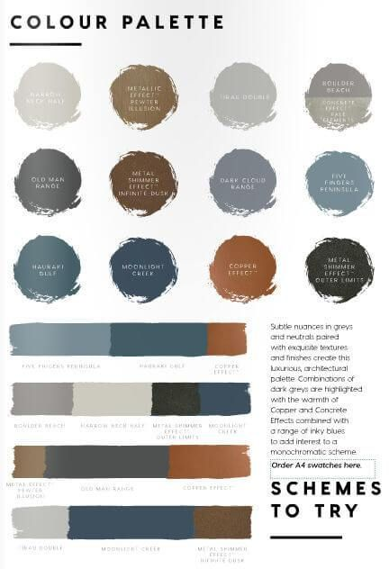 2017 palettes from dulux australia offer distilled colour | @meccinteriors…