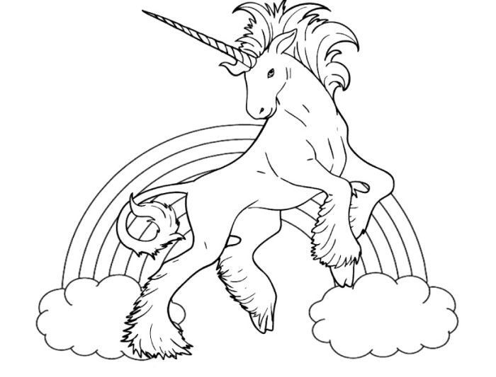 Rainbow Coloring Pages Unicorn Coloring Pages Coloring Pages