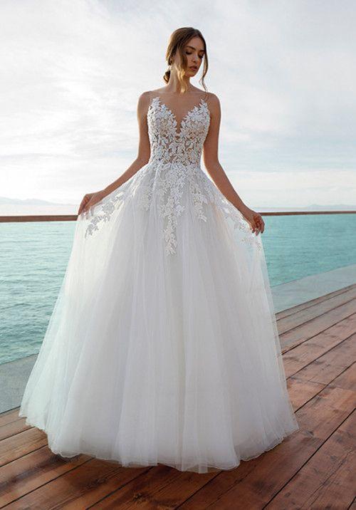 8026 A Line Wedding Dress By Demetrios Weddingwire Com Ball Gowns Wedding Mexican Wedding Dress Dream Wedding Dresses