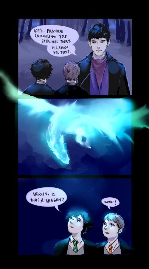Potterlock and Merlin by mformadness on DeviantArt<<< wait... John? Sherlock? Maybe I'm wrong...