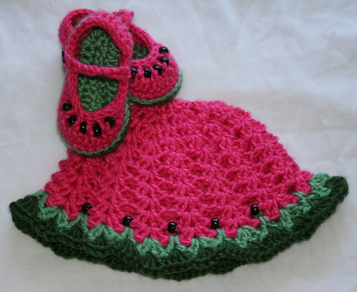 Free Crochet Watermelon Dress Pattern : 54 best images about watermelon crochet on Pinterest ...