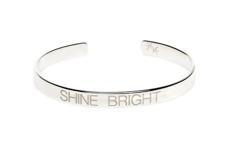 Power Quote SHINE BRIGHT Bracelet - HeidisHoff.no