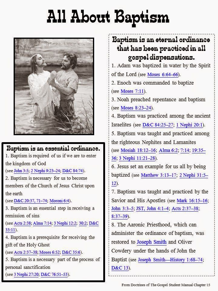 LDS Baptism & Holy Ghost Outline- Scripture Study Guide - Sofias Primary Ideas