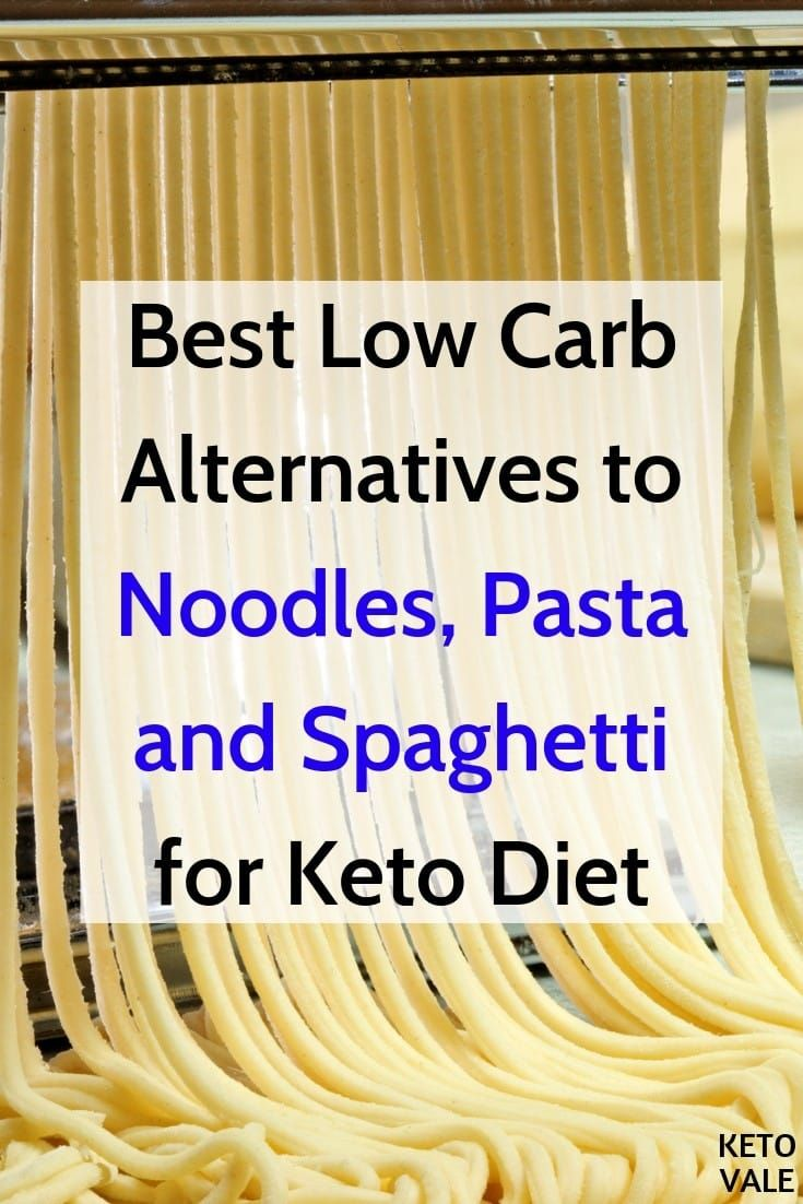 6 Best Low Carb Alternatives To Noodles Pasta Spaghetti Keto Vale Low Carb Noodles Keto Pasta Recipe Pasta Substitute