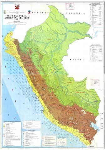 Mapa del perfil ambiental del Perú. | SINIA | Sistema Nacional de Información Ambiental