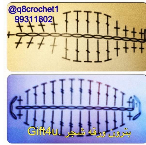 Crochet Leaves - Chart ❥ 4U // hf