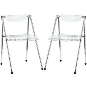Modway Furniture  Telescope Dining Chairs Set of 2 in Clear - EEI-923