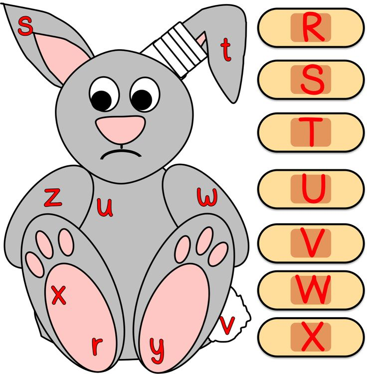 Bandage Alphabet Letter Matching