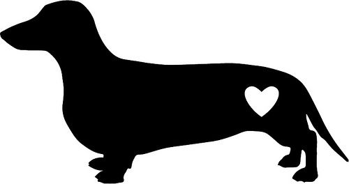 Dachsund Love | The Craft Chop  free file free svg  cricut and silhouette