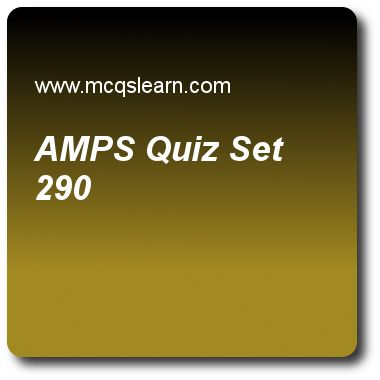 AMPS Quizzes:  computer networks Quiz 290 Questions and Answers - Practice networking quizzes based questions and answers to study amps quiz with answers. Practice MCQs to test learning on amps, domain names, bluetooth lan, voice over ip, multicast routing protocols quizzes. Online amps worksheets has study guide as d-amps is a digital cellular phone system using, answer key with answers as tdma, fdma, wma and both a and b to test exam preparation. For quick learning, study online wireless..