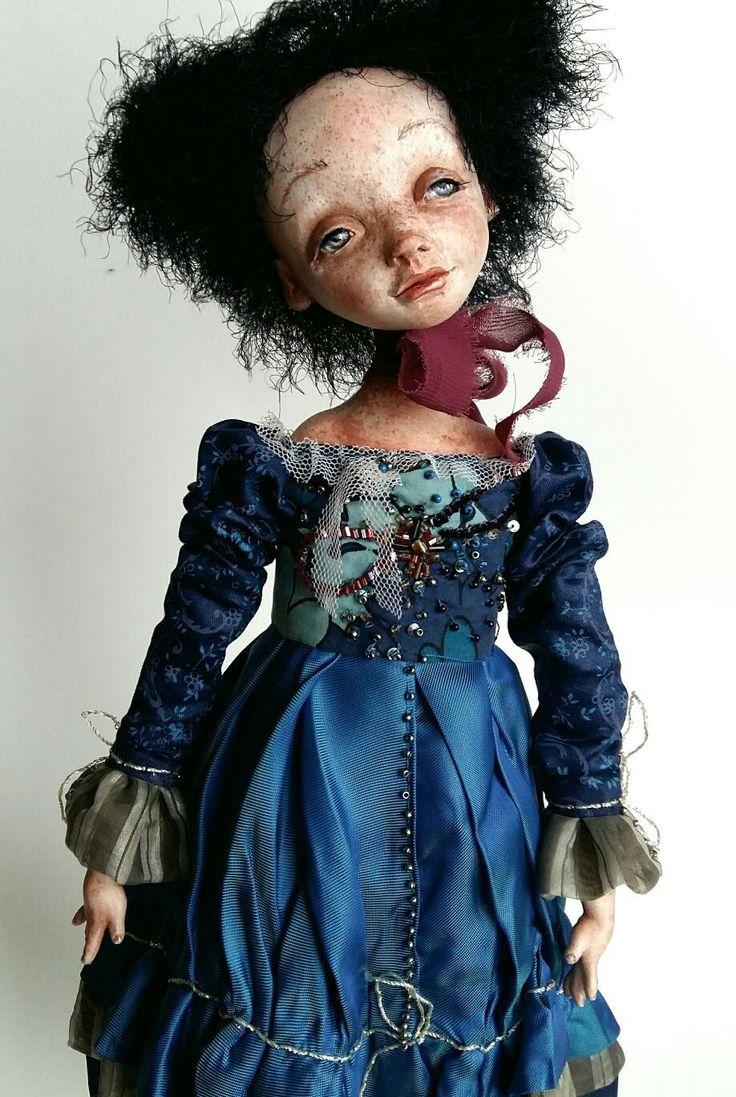 Купить Кукла авторская интерьерная коллекционная ручной работы будуарная - куклы, подарок