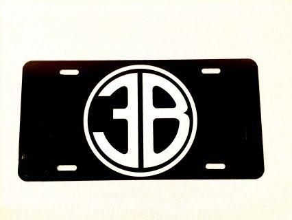 3B logo license plate