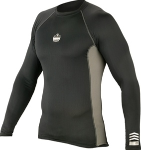 Core Performance Base Layer Long Sleeve Shirt by Ergodyne Black L, Men's,  Size: Large