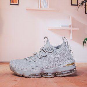 6fff46df959 Mens Nike Lebron 15 XV City Pack Grey Gold 897648 005 Basketball Shoes