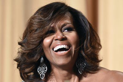 White House Correspondents' Dinner (May 2014)   - 10 Times Johnny Wright Slayed Michelle Obama's Hair To Perfection