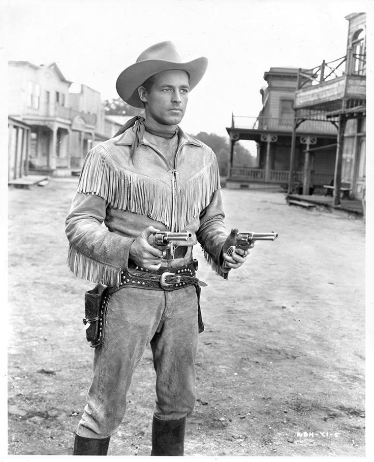 """Handsome leading man Guy Madison, who is best known for playing the title role on the 1951-58 Western series """"The Adventures of Wild Bill Hickok,"""" was born Jan 19,1922. He died at the age of 74, in 1996. His sidekick wasJingles played by Andy Devine. Photo from the L.A. Times files."""