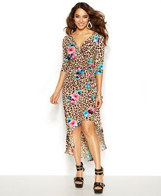 Thalia Sodi Leopard-Print Faux-Wrap Dress