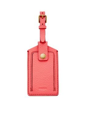 Fossil Women Luggage Tag - Neon Coral - One Size