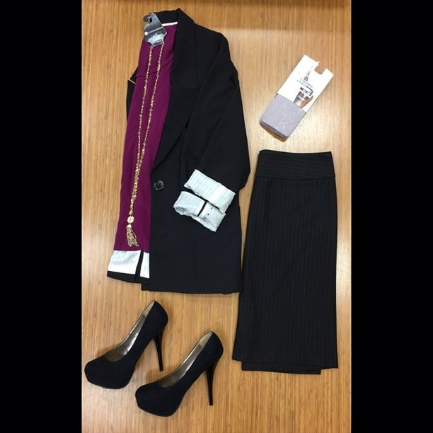 Stay business savvy with Clothes Mentor!! This entire look could be yours for less than $65! Stay tuned for more styles and brands at a price you love!   -Blazer Chicos; sz. S; $18 -Top Old Navu; sz. M; $4 -Skirt  Benetton; sz. 8; $16 -Shoes Mossimo; sz. 8; $12 -Tights Jessica Simpson; $6 -Necklace; $6  #cmmidtown #clothesmentor #charlotte #cmclt #cmstyle #business #savvy #brandsyouwant #pricesyoulove