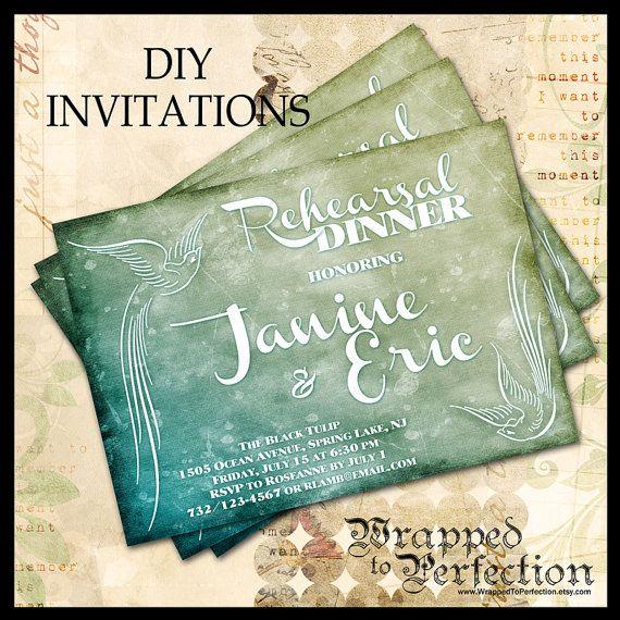 rehearsal dinner invitation    diy printable by
