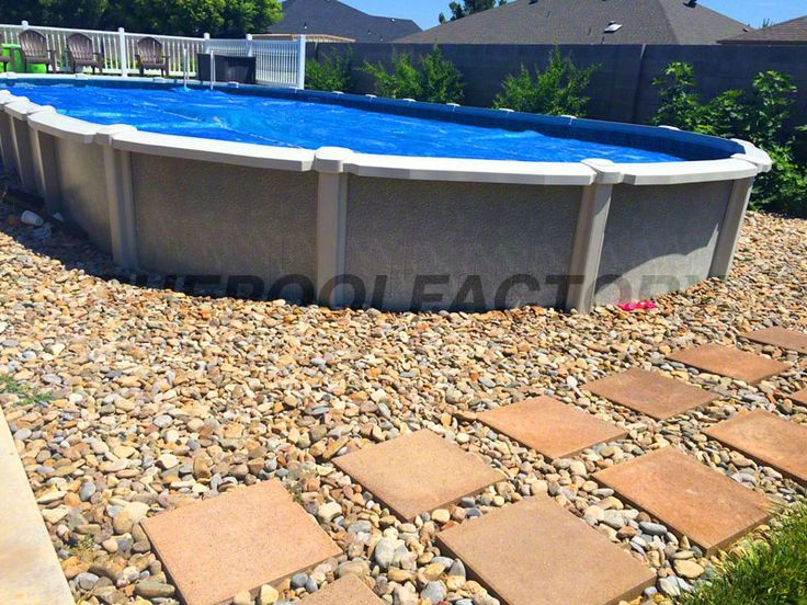 48 best images about semi inground pools on pinterest on Above ground pool installation ideas