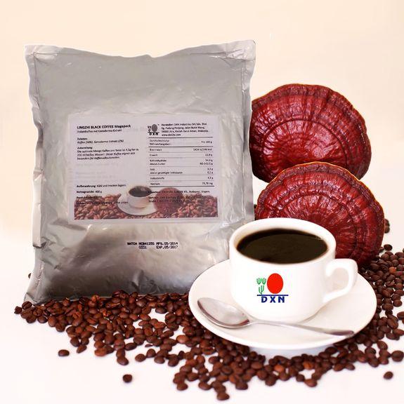 Il Caffè Nero al Ganoderma dal gusto deciso è perfetto per chi ama il caffè amaro. Grazie al suo formato quantità convenienza i benefici per la tua salute saranno grandi tanto quanto il tuo risparmio.