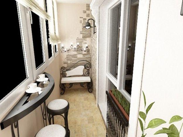 Как обустроить маленький балкон. 70 Идей