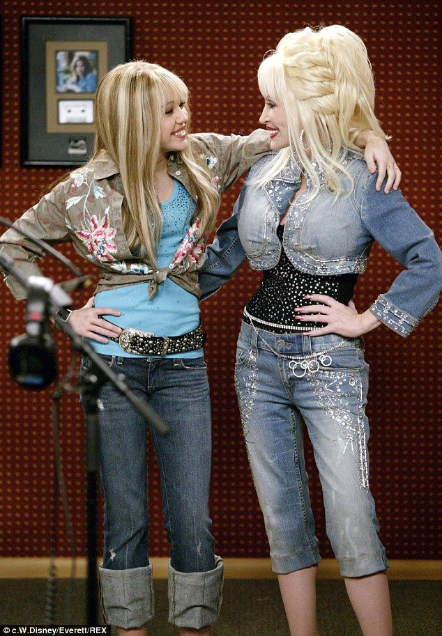 Shocked: Dolly, pictured with Miley in 2006, is concerned over the young star's nonchalant attitude towards drug use.