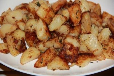 Картофель печеный без духовки