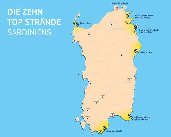 Wo befinden sich die schönsten Strände Sardiniens?