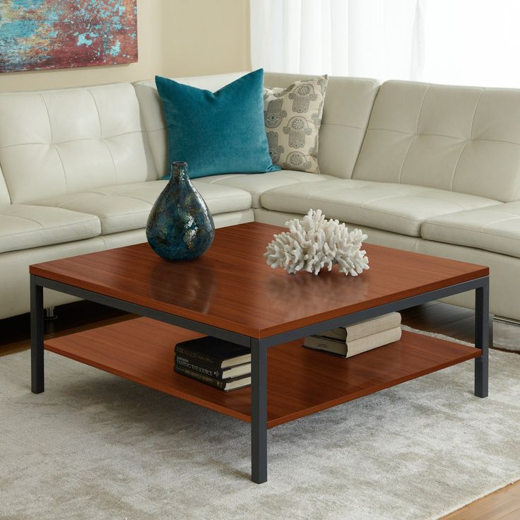 Jesper Parson Square Coffee Table With Shelf   $299 @hayneedle