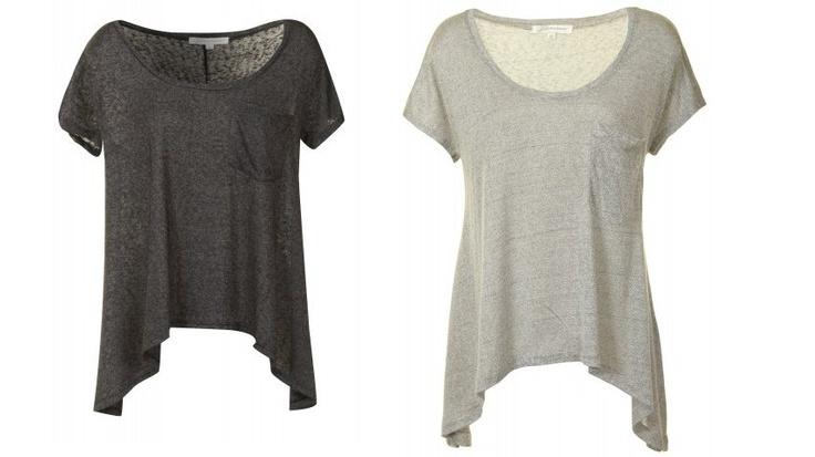 grå basis t-shirt
