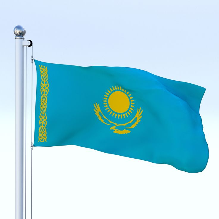 Waving National Flag Of Kazakhstan Stock Animation | 896681 |Kazakhstan Animation