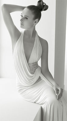 We love ROSA CLARA!! Isn't this dress perfect for a wedding at one of the beautiful Greek islands?