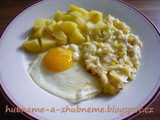 Dobroty od Adele :): Dušený pórek s bramborem a vejcem (270 kcal)
