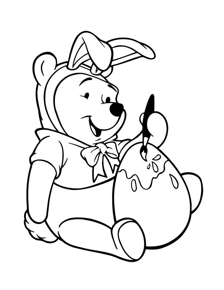 Winnie The Pooh - Free printable Coloring pages for kids | 950x736