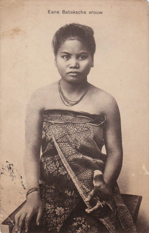 Batak Woman with Parrot ~ 1911