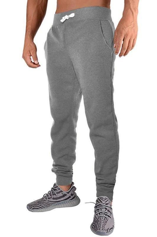 Team Color ICER Brands Adult Men Jogger Pants Active Basic Fleece Sweatpants Medium