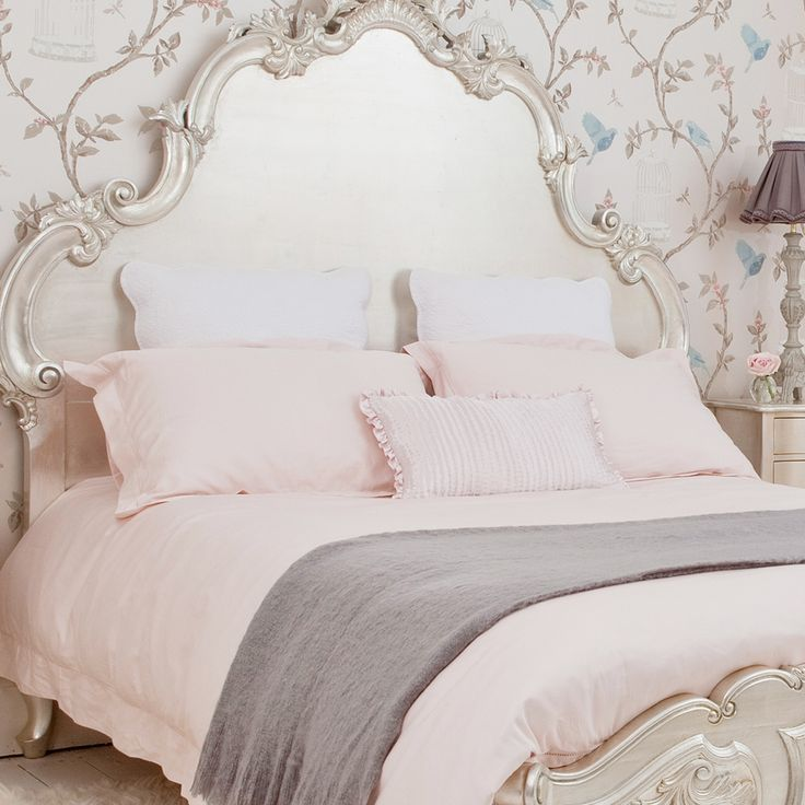 French Ladder Pink Bed Linen  |  Luxury Bed Linen  |  Bedding  |  French Bedroom Company