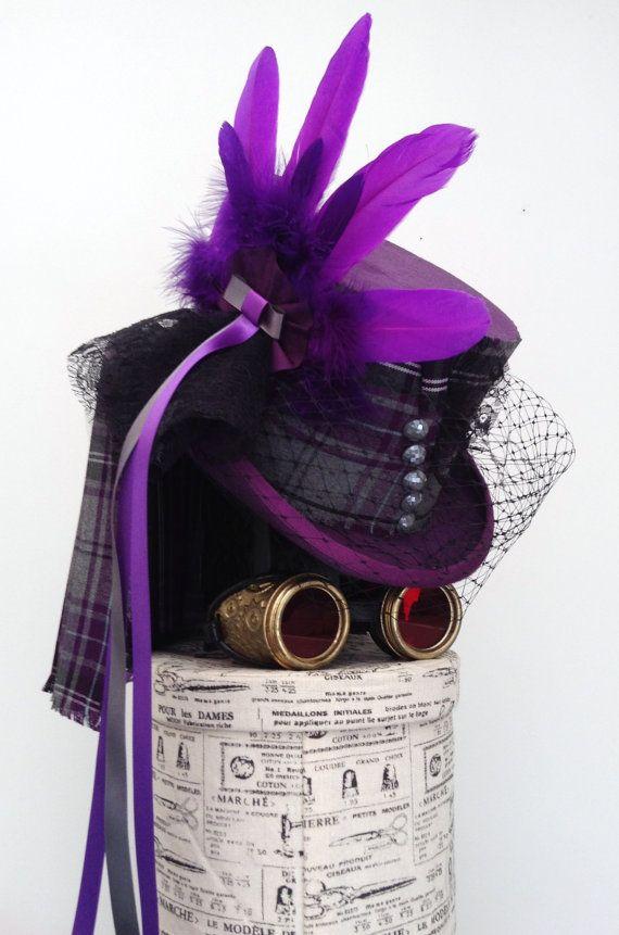 Lady McCrowdie steampunk purple top hat