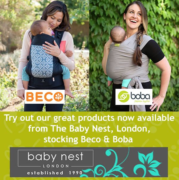 If you're looking for high quality baby products from prams to car seats, buckle carriers to stretchy baby wraps, then drop in and meet the professional team at the Baby Nest (London) now stocking a selection of Boba and Beco Products - ask for a demo!