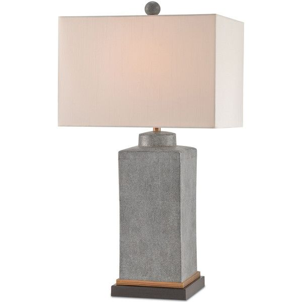 Alluring Gray Table Lamp ($870) ❤ Liked On Polyvore Featuring Home, Lighting ,