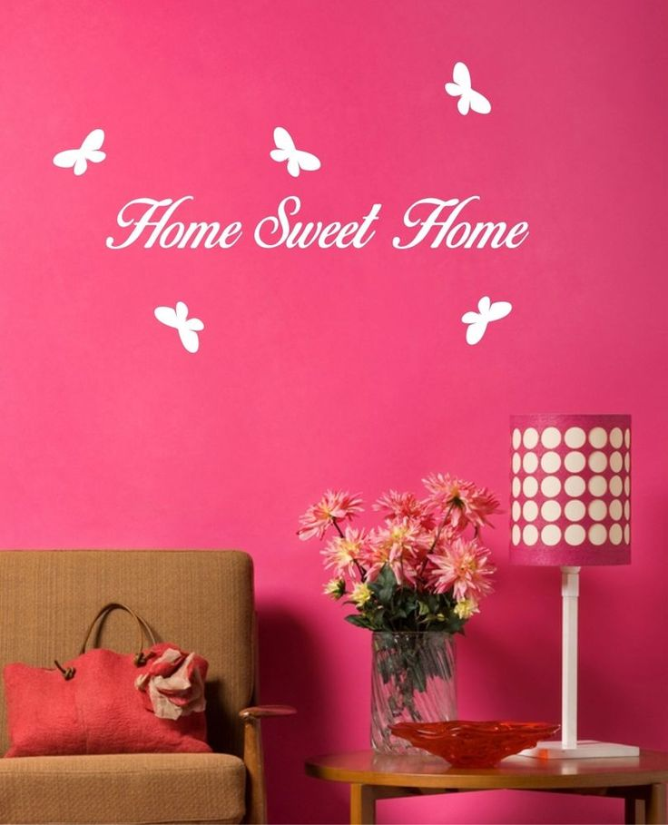 HOME SWEET HOME  - 100cm  Wall Art Sticker  Bedroom Lounge Dining Room