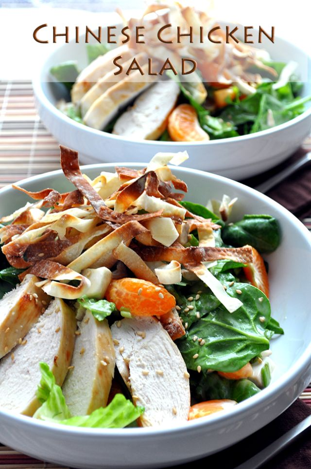 Chinese Chicken Salad is my fave protein packed salad! from FarmgirlGourmet.com looks so healthy and delish!