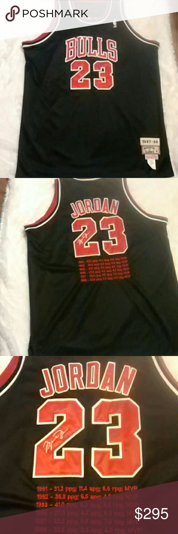 Rare NWT Michael Jordan #23 Basketball Jersey This is a NWT Michael Jordan #23 basketball shirt. Size 60 in good condition.  Road Jersey. I have never seen one of these anywhere or on internet  Any questions please feel free to ask. Bundle and save. Happy Poshing! Hardwood Classic Shirts
