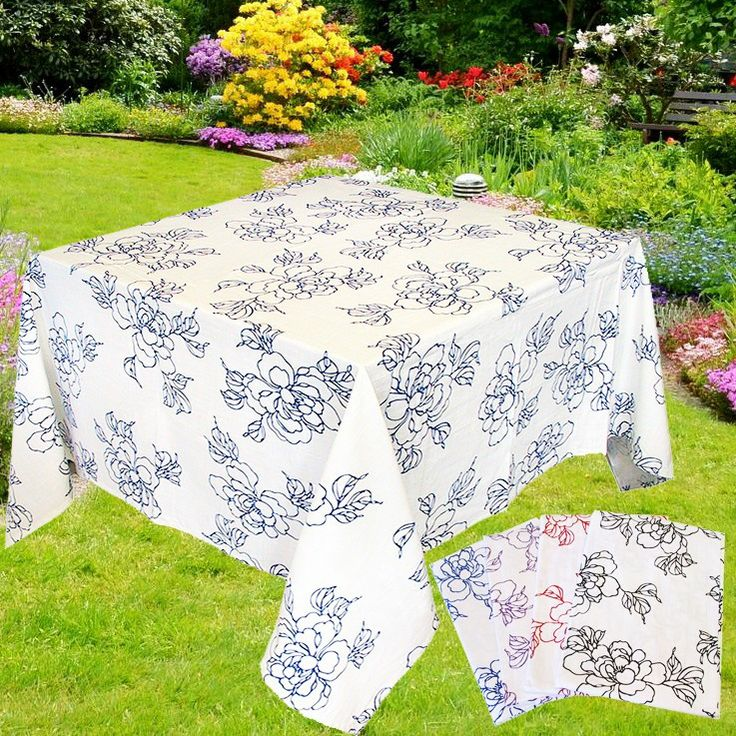 VOGUE Tovaglia a fiori per 4 cm 160x160 puro Cotone