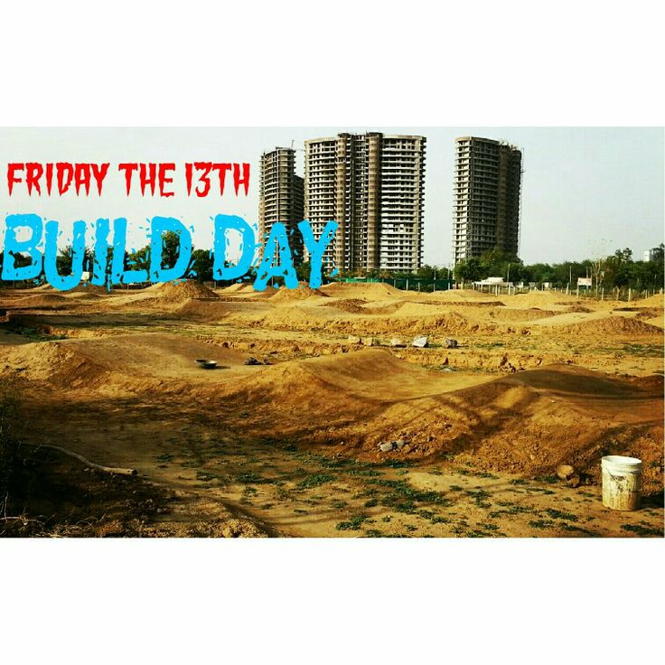 #fridaythe13th #buildday #flowtrack gets more #flow and #pump...three new #rollers added before the first #berm...#pedalersvillage #mtb #bmx #bikepark #pumptrack #dirtjumps #gurgaon #India