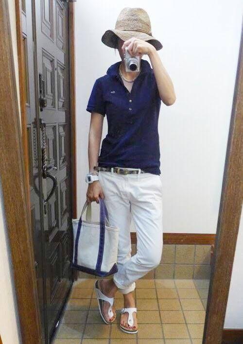 6月15日 ラコステポロシャツにUNIQLOパンツ