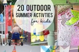 20 Outdoor Summer Activities for Kids : great ideas!  http://littleinspiration.com/2013/05/20-summer-outdoor-activities-for-kids.html