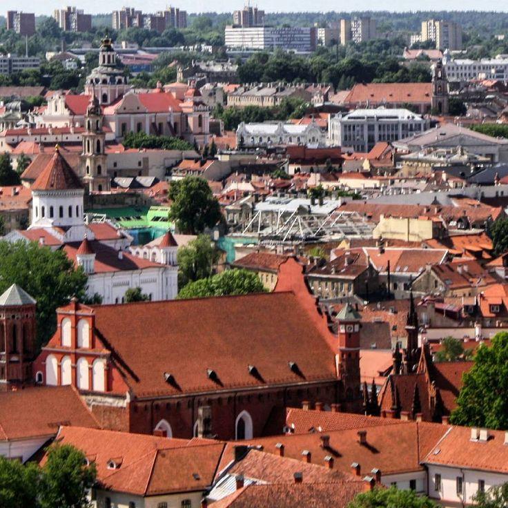 Panorama view of Vilnius.